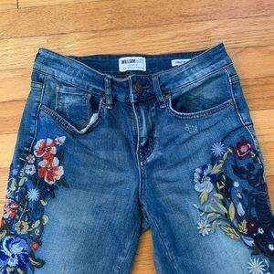 William Rast embroidered Skinny Jeans